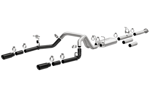 Magnaflow 19377 | Chevrolet/GMC, Silverado/Sierra | 2500/3500 HD | 6.0L Gas | BLACK ceramic coated | Stainless Cat-Back DUAL Performance Exhaust System ( 2011-2018 models)