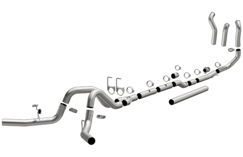 "Magnaflow 18952| Ford F250-F350 | 7.3 L Diesel | 4"" Turbo Back Dual Aluminized Performance Exhaust System"