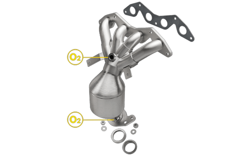 Magnaflow 452030 | Honda Civic | 1.7L | DX/GX/HX/LX Models Only | Catalytic Converter-Direct Fit | California Legal | EO# D-193-116