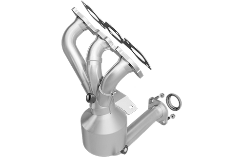 Magnaflow 553266   Ford/Lincoln/Mercury   Fusion/Zephyr/Milan   3.0L   FWD    Front Manifold with integrated catalytic converter   California / NY Legal   EO D-193-133