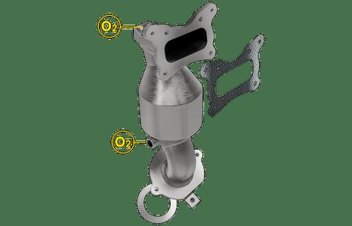 Magnaflow 5531441 | Honda Accord 2.4L | Front Catalytic Converter | California Legal EO D-193-137-cad drawing