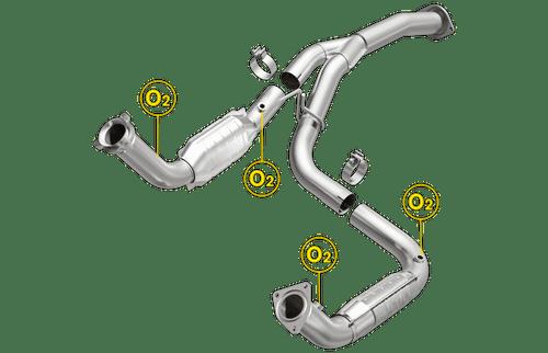2011-2016 | Chevrolet Silverado 2500HD 3500HD | GMC Sierra 2500HD 3500HD | 6.0L | 2 converter assembly |  Direct-Fit OEM Grade Catalytic Converter Federal | Magnaflow 21-252