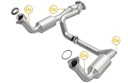 Magnaflow 4451419 | Chevrolet Silverado 1500/Silverado 2500/Suburban 1500/Tahoe | GMC Sierra 1500/Sierra 2500/Yukon/Yukon XL 1500 | 4.8L, 5.3L | Direct-Fit California Legal Catalytic Converter | EO# D-193-136