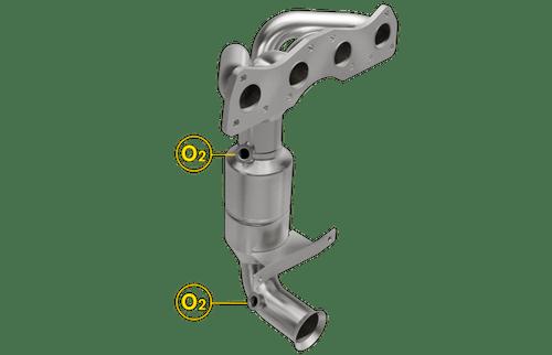Magnaflow 5531028 | Mini Cooper | 1.6L | Exhaust Manifold | Direct-Fit California Legal Catalytic Converter | EO# D-193-137