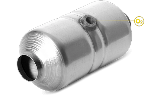 """Magnaflow 4561354   2"""" in/out   5"""" Round Body   11.25"""" Length   Mid-Bed O2 Port   Universal California Legal Catalytic Converter   EO# D-193-142"""