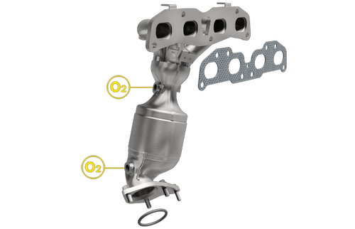 2010-2013 | Nissan Rogue/Rogue Select | 2.5L | Exhaust Manifold | Direct-Fit California Legal Catalytic Converter | EO# D-798-9