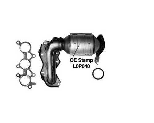 2005-2007   Toyota Avalon   3.5   Front Radiator Side   Bank 2   Exhaust Manifold With Integrated Catalytic Converter California Legal Catalytic Converter   EO#D-280-102