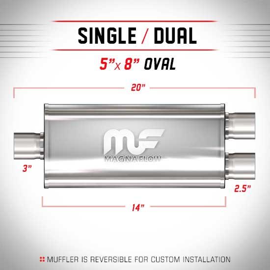 Magnaflow 12198_Satin Stainless Muffler