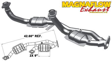 Magnaflow 49094_FORD WINDSTAR 3.8L Direct Fit OEM GRADE OBDII (Exc.CA)