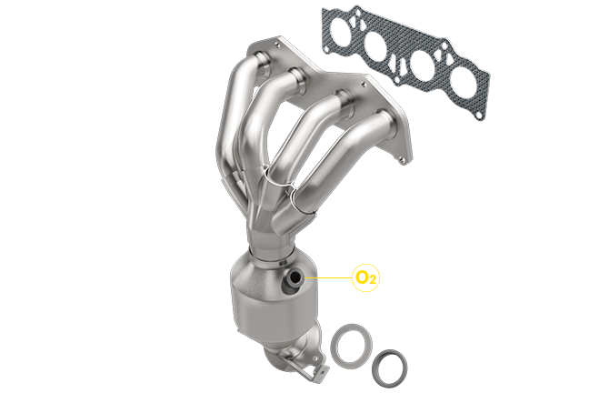 Magnaflow 56487 | Scion/Toyota | TC/RAV4 | Front Manifold w/integrated Direct Fit California OBDII Catalytic Converter
