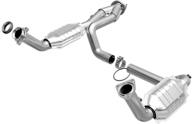 Magnaflow 445419 | CHEVROLET SILVERADO 1500/SILVERADO 2500/SUBURBAN 1500/TAHOE, GMC SIERRA 1500/SIERRA 2500/YUKON/YUKON XL 1500 | 4.8L/5.3L | Catalytic Converter-Direct Fit | California Legal | EO# D-193-100