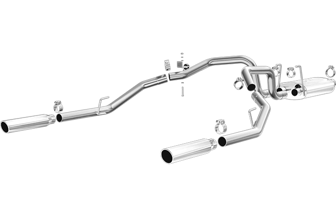 Magnaflow 15249 | Dodge Ram | 1500 | 3.6L, 3.7L | Dual Rear Exit | Stainless Cat-Back Performance Exhaust System
