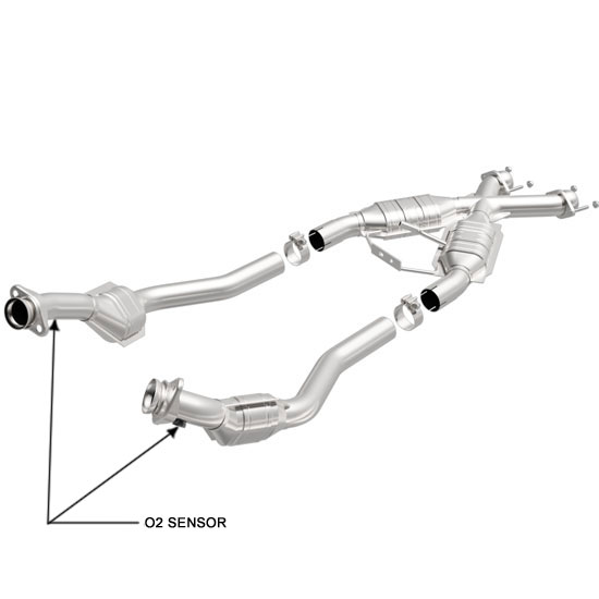 Magnaflow 444062 | FORD MUSTANG | 5L | OBD II Only | Catalytic Converter-Direct Fit | California Legal | EO# D-193-96 | verify EFN matches