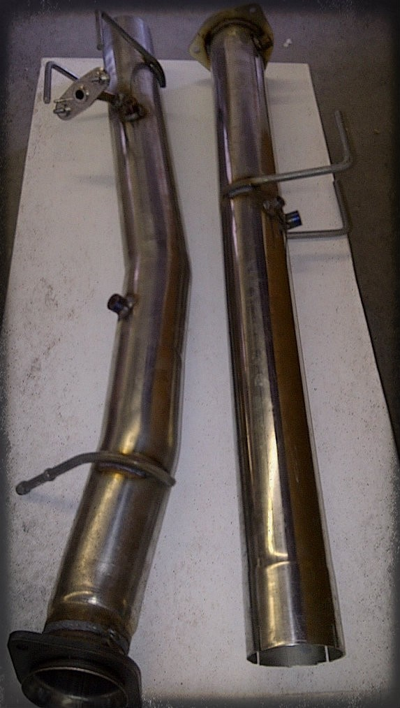 "6.7L Dodge  DPF Pack ( 4""DPF Pipes-5"" After DPF)_2011-2012 Dodge Diesel Complete Exhaust"