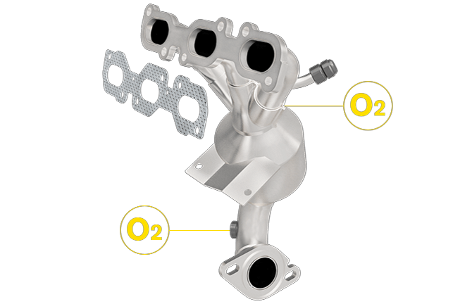 Magnaflow 452012   Ford/Lincoln/Mercury   Fusion/Zephyr/Milan   3.0L   Rear   Exhaust Manifold With Integrated Catalytic Converter   California Legal