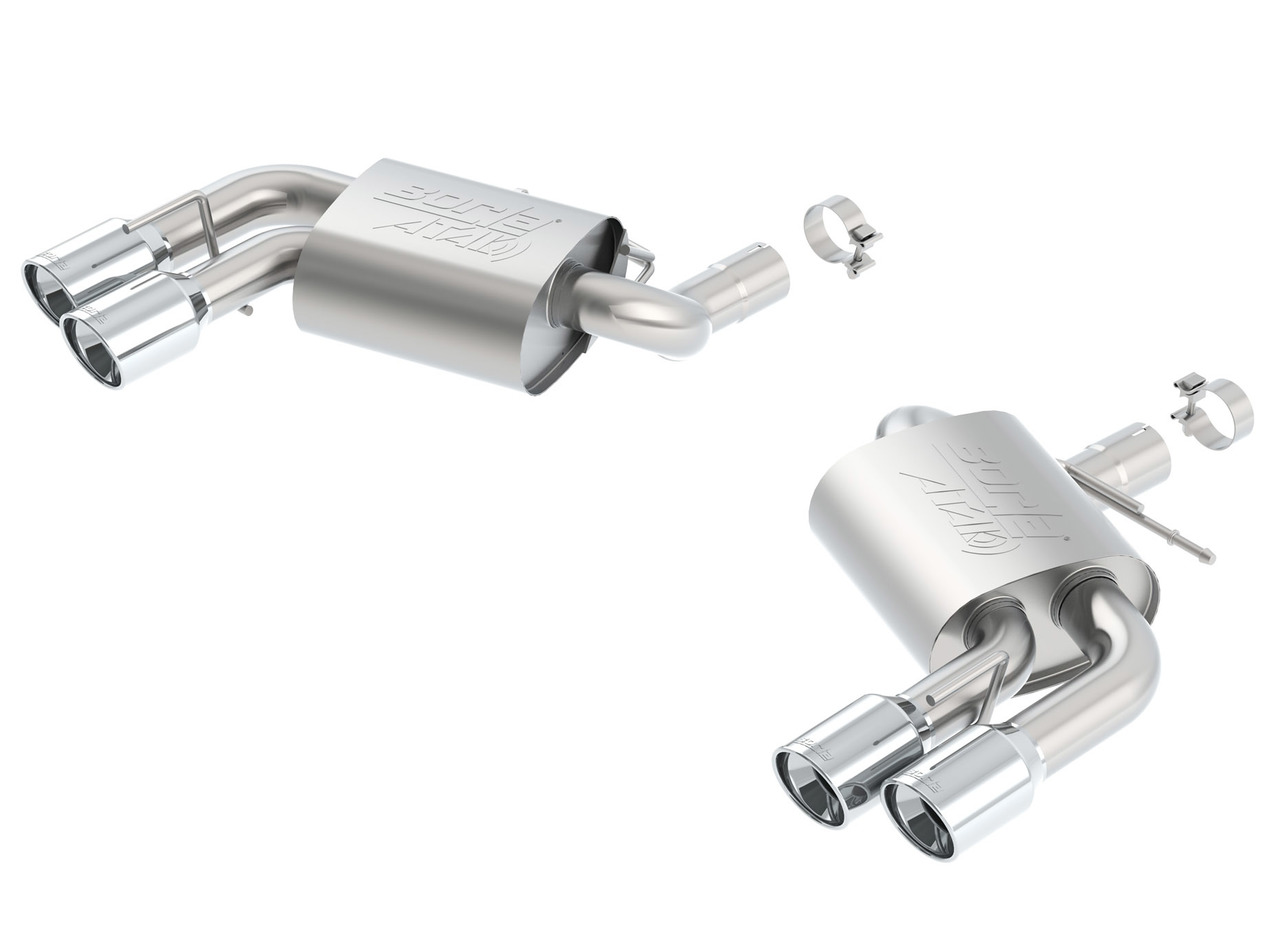 Borla 11921 Axle-BAck Exhaust| 2016-2017 Camaro SS 6.2L engine Automatic/ Manual Trans. 2 door equipped with Dual Mode Exhaust (NPP) or Dual Split Rear Exit bumper