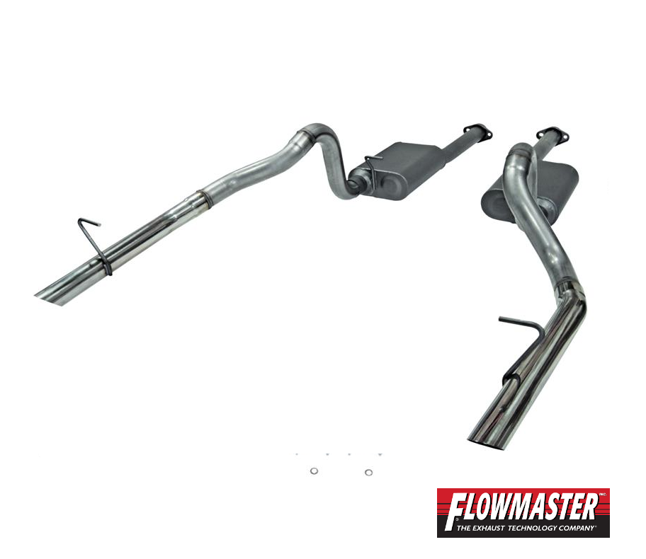 1986-1993 Ford Mustang LX 5.0L | Cat-Back Exhaust | Stainless | Flowmaster  817213
