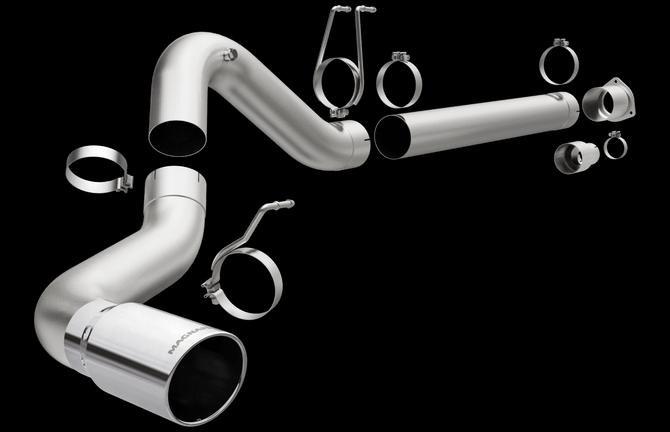 "Magnaflow 18950 | Ford | F-250 Super Duty/F-350 Super Duty | 6.4L, 6.7L | 5"" DPF Back | Aluminized  Performance Exhaust System"