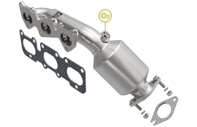 Magnaflow 52785 | Hyundai/Kia | K900/Genesis | 3 8L | Passenger Side-Bank 1  | Exhaust Manifold With Integrated Catalytic Converter OEM Grade Federal