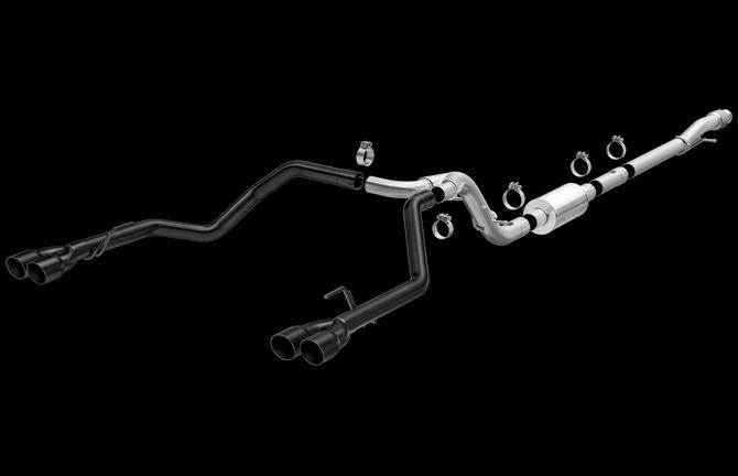 Magnaflow 19478 | Chevrolet/GMC 1500 | 4.3L,  5.3L  | Extended/Crew Cab | Black Series | QUAD REAR Exit (through bumper cutouts) | Stainless Performance Exhaust System