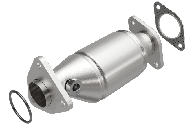 Magnaflow 5481665 | Nissan | 2005-2006 only | Frontier | Pathfinder | Xterra | 4L | Front Driver Side-BANK 2 | Direct-Fit California Legal Catalytic Converter OBDII | EO# D-193-146-cad drawing