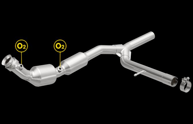 Magnaflow 5481706 | Ford F-150 | 5.4L | RWD | Passenger Side-Bank 1 | Direct-Fit California Legal Catalytic Converter OBDII | EO# D-193-146