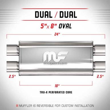Magnaflow 12469 Satin Stainless Steel 3 Dual Oval Muffler