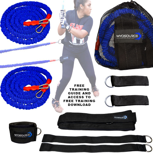 Includes: 2 stretch cords with safety sleeve, 2 pole attachment straps, 2 assistor/anchor straps, 1 adjustable belt, 1 leg strap, 1 mesh travel bag, and FREE training download and Training Guide