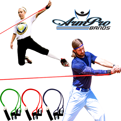 Available in 3 different levels or resistance so baseball and softball players of all ages can improve upper body strength.