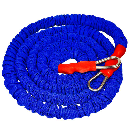 9 ft long single resistance cord that stretches up to 20 ft; with durable royal blue safety sleeve . Compatible with the Acceleration Speed Cord (ASC).