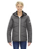 78698 Ash City - North End Sport Blue Avant Tech Mélange Insulated Jacket with Heat Reflect Technology | Blankclothing.ca