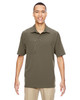 Dk Oakmoss - 85120 North End Excursion Crosscheck Performance Woven Polo Shirt | Blankclothing.ca