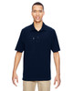 Navy - 85120 North End Excursion Crosscheck Performance Woven Polo Shirt | Blankclothing.ca