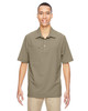 Stone - 85120 North End Excursion Crosscheck Performance Woven Polo Shirt | Blankclothing.ca