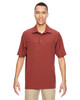Rust - 85120 North End Excursion Crosscheck Performance Woven Polo Shirt | Blankclothing.ca