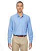Light Blue - 87044 North End Align Wrinkle-Resistant Cotton Blend Dobby Vertical Striped Shirt | Blankclothing.ca
