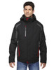 Black/Red - 88195 Ash City - North End Height 3-in-1 Jacket with Insulated Liner   Blankclothing.ca