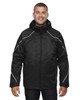 Black 88196 Ash City - North End Angle 3-in-1 Jacket with Bonded Fleece Liner   Blankclothing.ca