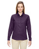 Mulbry Purple 77043 North End Paramount Wrinkle-Resistant Cotton Blend Twill Checkered Shirt | Blankclothing.ca