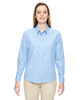 Light Blue - 77044 North End Align Wrinkle-Resistant Cotton Blend Dobby Vertical Striped Shirt | Blankclothing.ca