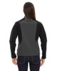 Black Silk - Back,  78176 North End Terrain Colourblock Soft Shell Jacket with Embossed Print | Blankclothing.ca