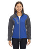 Nautical Blue - 78176 North End Terrain Colourblock Soft Shell Jacket with Embossed Print | Blankclothing.ca
