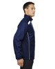 Classic Navy-side 88188 North End Lightweight Recycled Polyester Jacket with Embossed Print | Blankclothing.ca