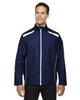 Classic Navy 88188 North End Lightweight Recycled Polyester Jacket with Embossed Print | Blankclothing.ca