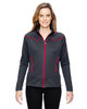 Carbon/Olympic Red - 78806 North End Sport Red Interactive Cadence Two-Tone Brush Back Jacket