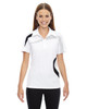 White - 78645 North End Sport Red Impact Performance Polyester Colourblock Polo Shirt