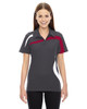 Black/Silk 78645 North End Sport Red Impact Performance Polyester Colourblock Polo Shirt