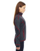 Carbon/Olympic Red-side 78681 North End Sport Red Pulse Textured Bonded Fleece Jacket with Print