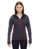 Carbon/Olympic Red 78681 North End Sport Red Pulse Textured Bonded Fleece Jacket with Print
