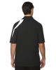 Black - back 88645 North End Sport Red Impact Performance Polyester Colourblock Polo Shirt